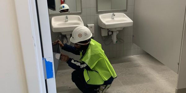 Our team doing a builders clean